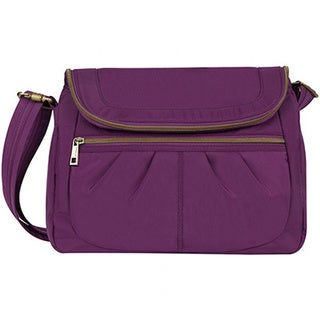 Travelon Anti-Theft Signature Flap Compartment Crossbody Messenger Bag