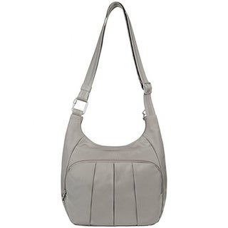 Travelon Anti-Theft Classic Pleated Hobo Handbag
