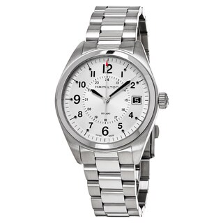 Hamilton Men's H68551153 'Khaki Field' Silver Dial Stainless Steel Swiss Quartz Watch