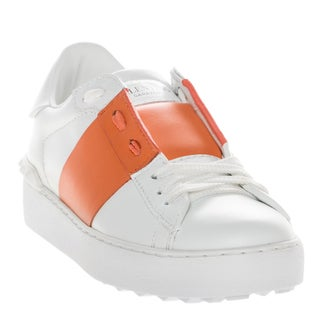 Valentino 'Open' Orange Color-block Sneakers