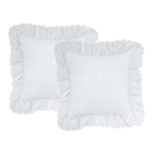 Square Eyelet Pillow (set of 2)