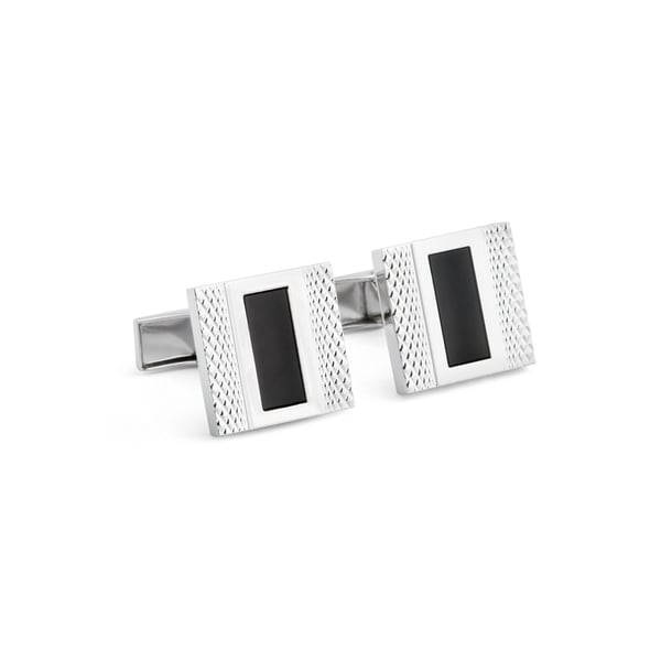 Square Textured Cuff Links