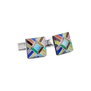 Mosaic Cats Eye Cuff Links