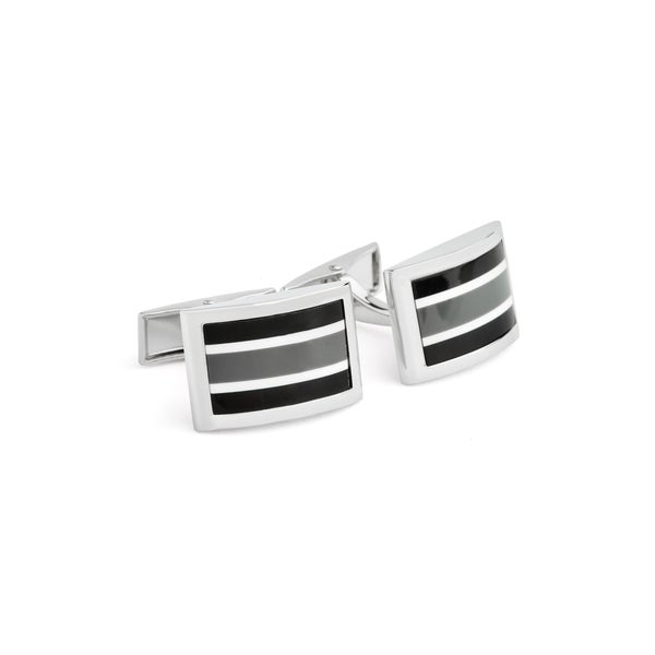 Grey Stripes Cuff Links