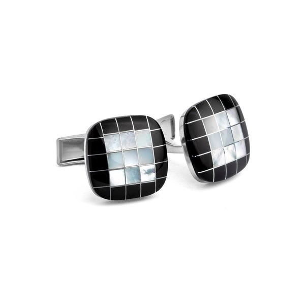 MOP Checker Cuff Links