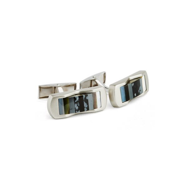 Multi Stone Cuff Links