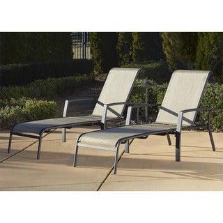 Cosco Serene Ridge Aluminum Chaise Lounge (Pack of 2)