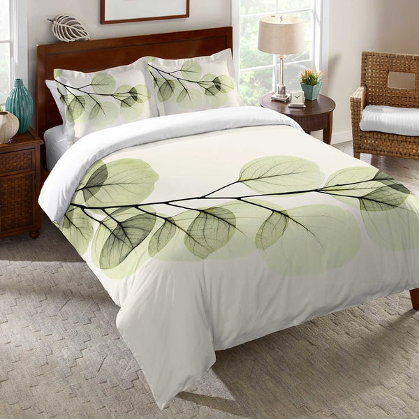 Laural Home X-Ray Leaf Duvet Cover