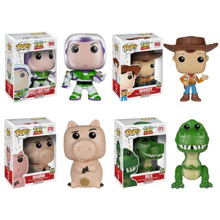 Funko Toy Story POP. Disney Collectors Set; Buzz Lightyear, Sheriff Woody, Hamm and Rex