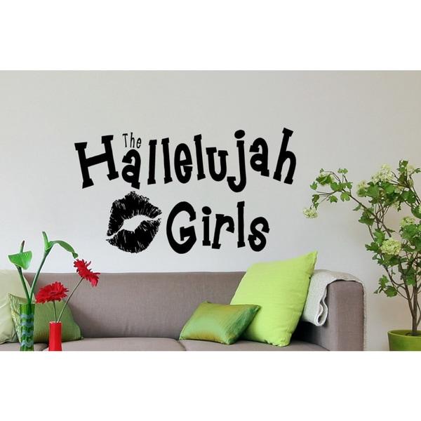 Hallelujah Girls Wall Art Sticker Decal