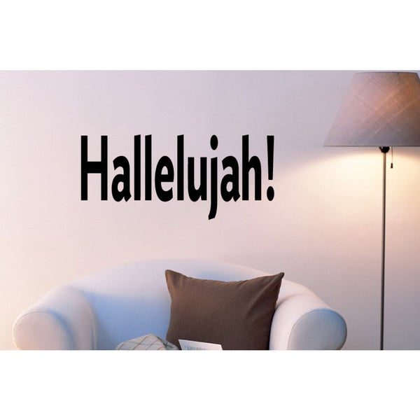 Word Hallelujah Wall Art Sticker Decal