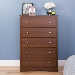 Steveston Warm Cherry 5-Drawer Dresser Chest