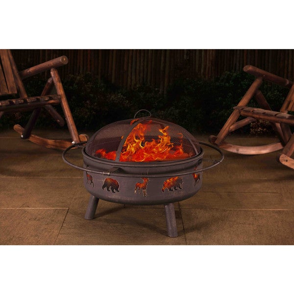 Sunjoy Derby 32-inch Steel Fire Pit