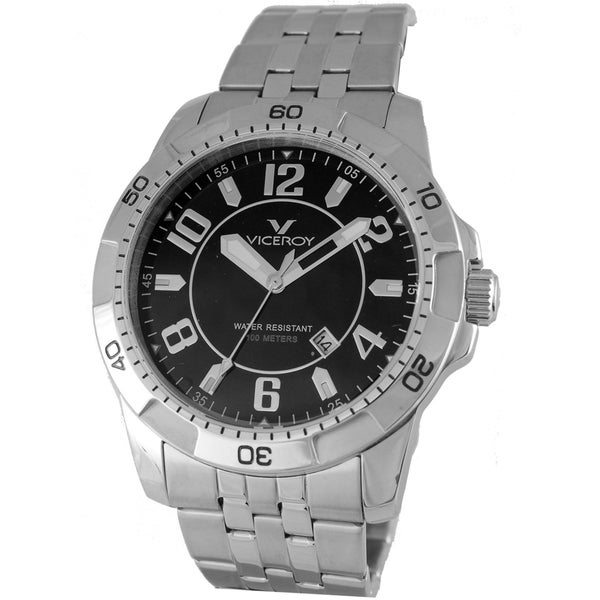 Viceroy Mens 47649-55 Silver Stainless Steel Watch