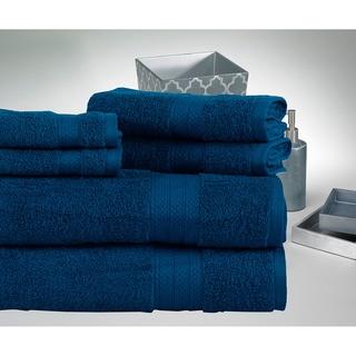 100% Cotton Soft and Absorbent Economic 6-Piece Towel Set