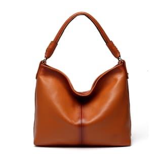 Adelia Leather Brown Hobo Handbag