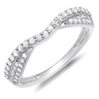 10k Gold 1/3ct TDW Round Diamond Anniversary Wedding Band (H-I, I1-I2)