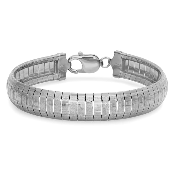 Sterling Essentials Bronze Greek Key Cubetto Bracelet