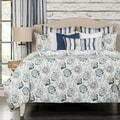 Nantucket 6-piece Cotton Blue Floral Duvet set