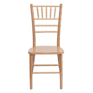 Offex Hercules Series Reinforced Natural Wood Chiavari Chair