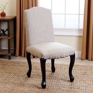 Abbyson Living Lorraine Natural Nailhead-trim Upholstered Dining Chair