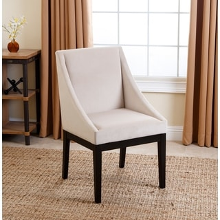 Abbyson Living Hayes Cream Curved Dining Chair