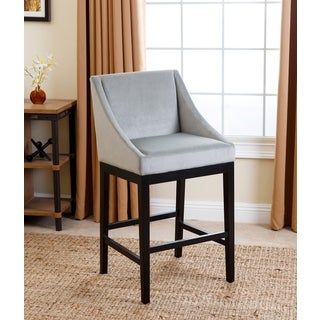 Abbyson Living Hayes Teal Curved Bar Stool