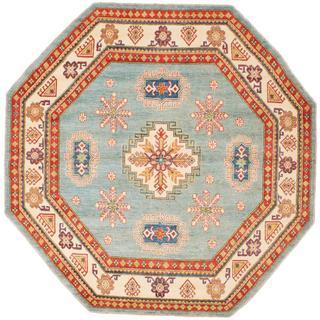 Ecarpetgallery Hand-knotted Finest Gazni Blue Wool Rug (8'4 x 8'4)