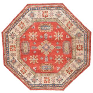 Ecarpetgallery Hand-knotted Finest Gazni Brown Wool Rug (8'1 x 8'1)