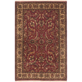 Ecarpetgallery Hand-knotted Finest Agra Jaipur Red Wool Rug (5'9 x 8'9)