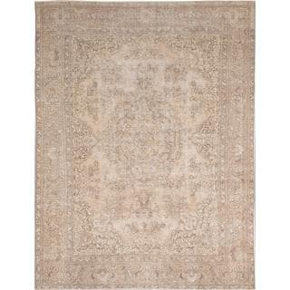 Ecarpetgallery Hand-knotted Persian Vogue Beige and Yellow Wool Rug (9'9 x 12'10)
