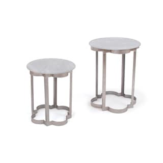 Hip Vintage Set of Two Clover Iron Tables