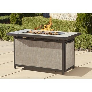 Cosco Serene Ridge Aluminum Propane Gas Fire Pit Table with Lid