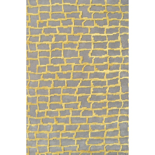 Hand-Tufted Le Mans /Wool Rug (5'X8')