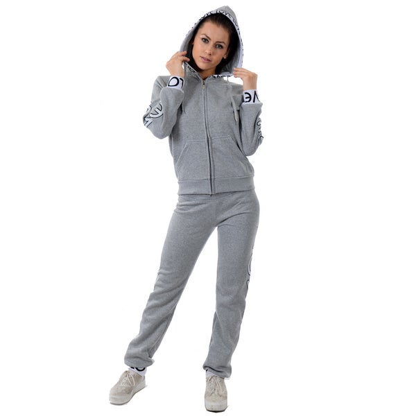 Special One Women's 2-piece Light Fleece Set with Printed Trim Hood and Embroidered 17938205