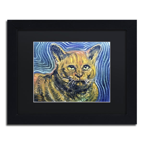 Lowell S.V. Devin 'Chairman Meow' Matted Framed Art