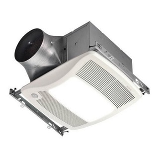 """""Broan Nu-Tone ZB110HL Ultra Green Multi-Speed Humidity Sensing Bath Fan/Light 9.3 Watt, 1 Amp, 110 cfm 110 cfm, 0.3 Sones, Ceiling Mount Polymeric Grille, White,"""""" 63502"