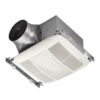 """""Broan Nu-Tone XN80L Ultra Green Bath Ventilation Fan/Light 6.0 Watt, 120 Volt, 0.7 Amp, 80 cfm, 0.3 Sones, Horizontal Duct, Ceiling Mount Rectangular Polymeric Grille, White,"""""" 6863"