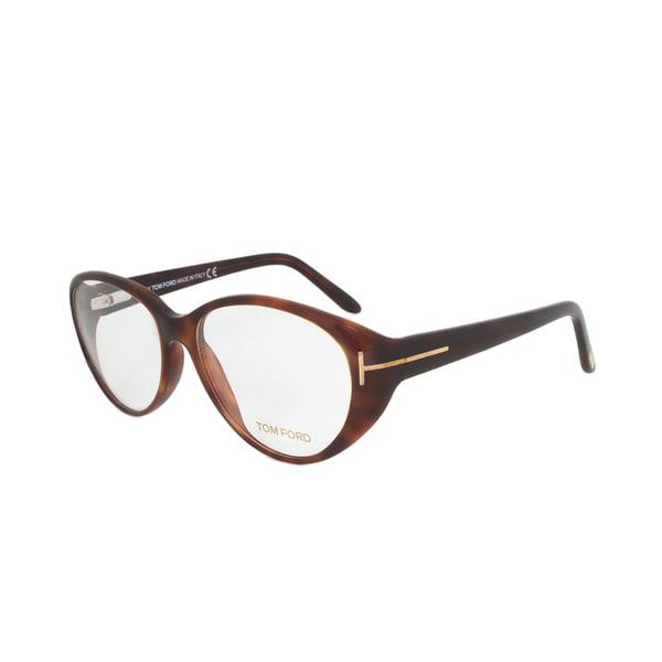Tom Ford FT5245 052 Tortoise Brown Rounded Eyeglass Frames