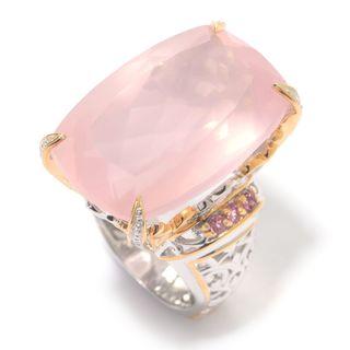 Michael Valitutti Rose Quartz and Pink Tourmaline Ring