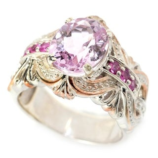 Michael Valitutti Kunzite and Hot Pink Sapphire Ring