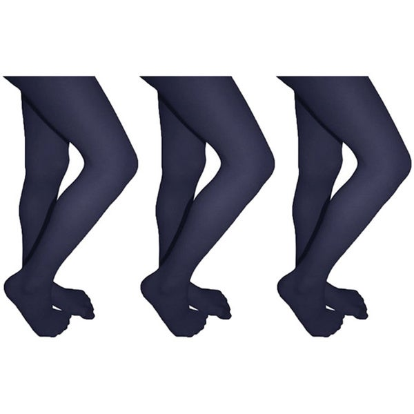 Butterfly Girls Lycra Opaque Tights (3-pack)