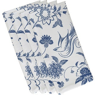 19-inch x 19-inch Traditional Bird Floral Floral Print Napkin