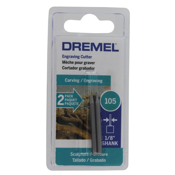 "Dremel 105-2 1/32"" Engraving Cutter 2-count"