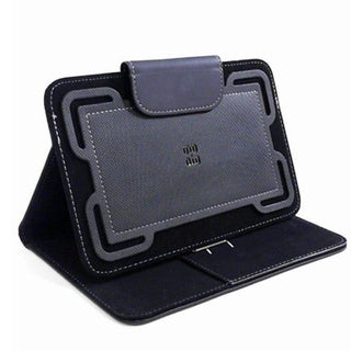 PureGear Universal Tablet Folio Wallet Case for Samsung Apple LG 7-8 Tablet - Black