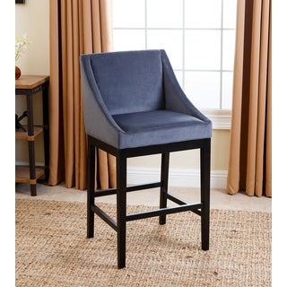 Abbyson Living Hayes Blue Curved Bar Stool