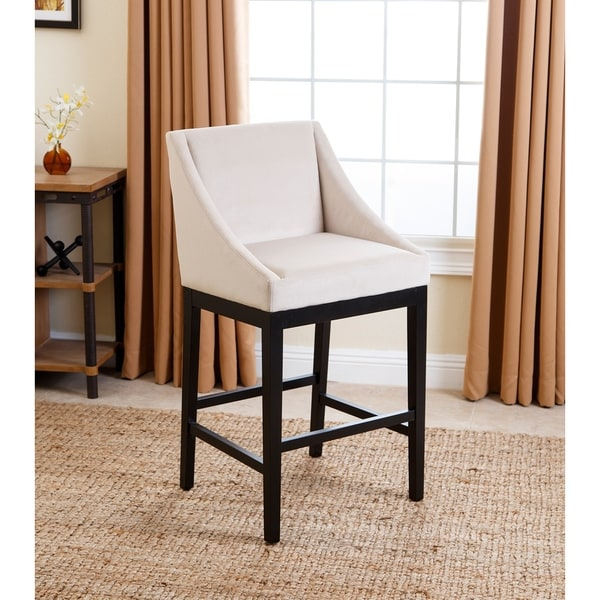 ABBYSON LIVING Hayes Cream Curved Bar Stool