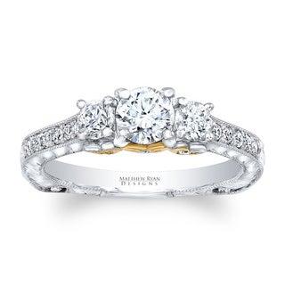 Matthew Ryan Design 14k Two-tone Gold 1 1/6ct TDW Diamond Vintage Style Engagement Ring