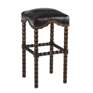Ridged Leg Upholstered Bar Stool 16595491 Overstock