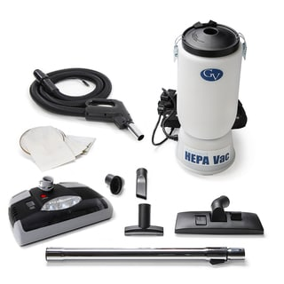 GV HEPA backpack vacuum with electric power nozzle head (6 quart)